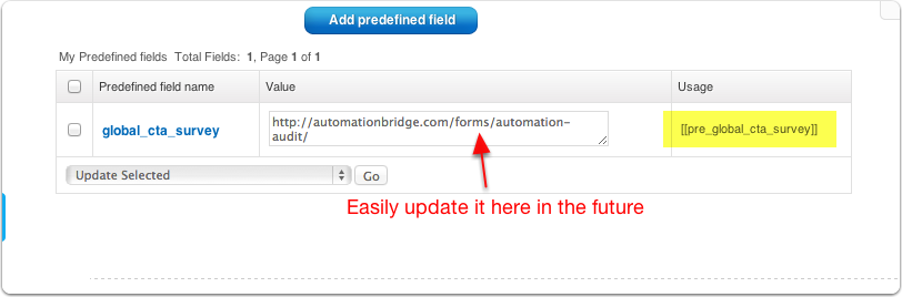 Predefined-Field-Created