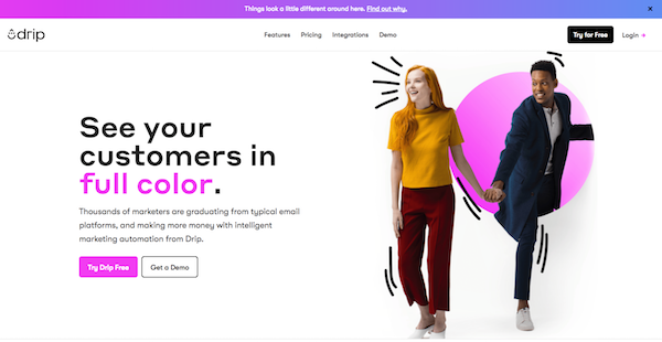 Drip by Leadpages new website rebrand