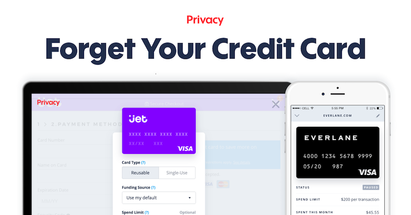 Virtual Credit Cards by Privacy.com