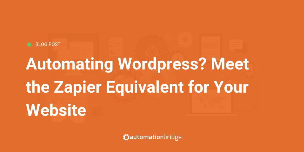 Automating Wordpress Plugin