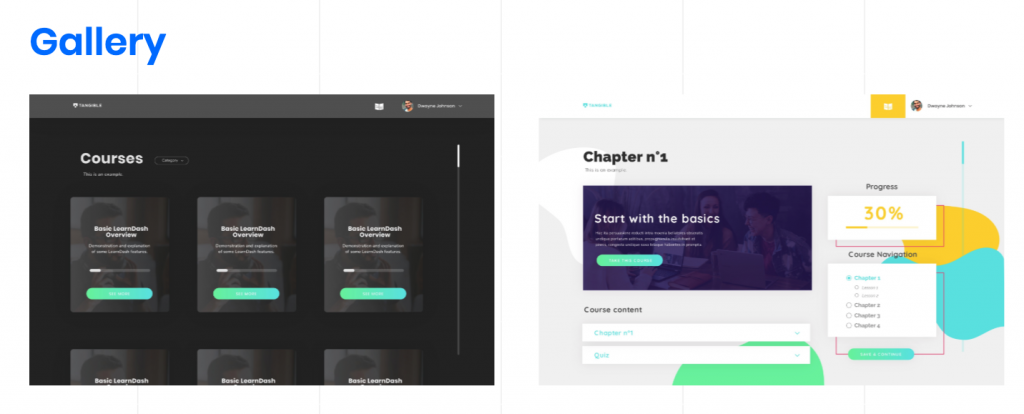 BeaverDash helps create beautiful course page layouts