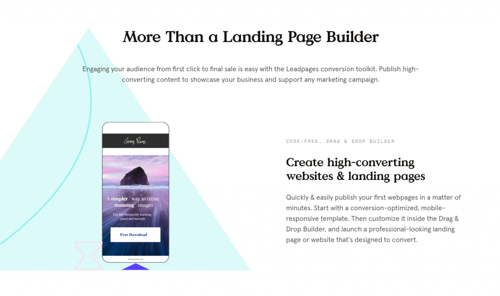 Leadpages lead generation integration